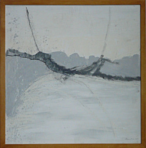 fragile - 2010acryl & houtskool op papier 50x50cmdonatie Dr. Leshan stichting Leiden