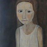 meisje zonder blauwe jurk - 2011acryl, houtskool & aquarel op papier 70x100cm - verkocht