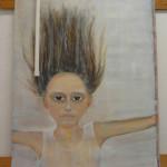 meisje(4) - 2012acryl en aquarelkrijt op linnen 70x100cm