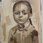 meisje(5) - 2012acryl op papier 50x70xm